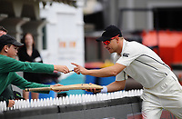 Neil Wagner signs autographs on day four of the international cricket test between the NZ Black Caps and the West Indies at the Hawkins Basin Reserve in Wellington, New Zealand on Monday, 4 December 2017. Photo: Dave Lintott / lintottphoto.co.nz