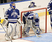 Stephen Caple (Air Force - 37), Jason Torf (Air Force - 29) - The Boston College Eagles defeated the Air Force Academy Falcons 2-0 in their NCAA Northeast Regional semi-final matchup on Saturday, March 24, 2012, at the DCU Center in Worcester, Massachusetts.