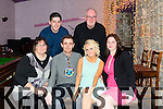 Martin Sweeney from Racecourse Heights Tralee celebrating his 30th birthday with family and friends at the Greyhound Bar on Saturday. Pictured Bridget McCarthy, Martin Sweeney, Jackie Halpin, Margaret Sweeney, Brendan Sweeney and Tim Sweeney