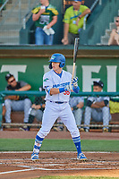 Ryan Ward (36) of the Ogden Raptors at bat against the Grand Junction Rockies at Lindquist Field on August 28, 2019 in Ogden, Utah. The Rockies defeated the Raptors 8-5. (Stephen Smith/Four Seam Images)