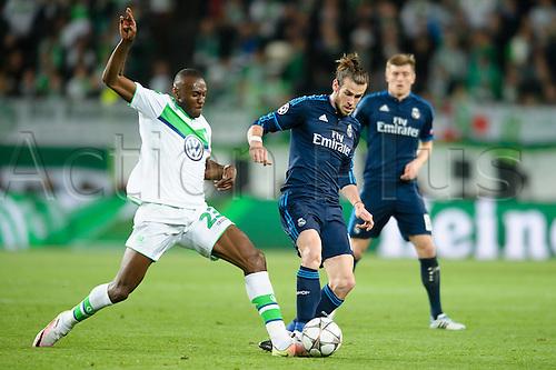 06.04.2016. Wolfsburg, Geramny. UEFA Champions League quarterfinal. VfL Wolfsburg versus Real Madrid.   Gareth Bale and Josuha Guilavogui