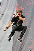 Pendulum - vocalist rapper Ben Mount performing live on Day Three on the Apollo Stage at the Sonisphere Festival Knebworth UK - 01 Aug 2010.  Photo credit: Zaine Lewis/IconicPix