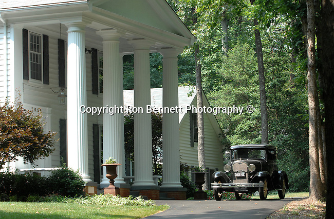 Virginia plantation home with antique model A Commonwealth of Virginia,