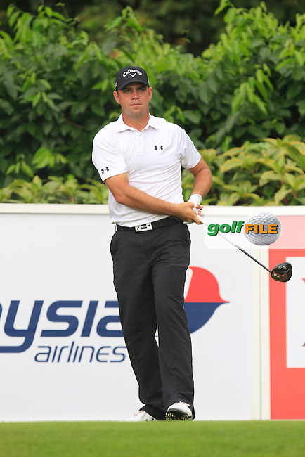 Gary Woodland (USA) on the 5th tee during Round 3 of the CIMB Classic in the Kuala Lumpur Golf &amp; Country Club on Saturday 1st November 2014.<br /> Picture:  Thos Caffrey / www.golffile.ie