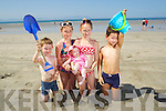 Dillon Costello, Lauren Costello, Lexi Boyle, Chloe Boyle and Evan Boyle, From Ballyduff enjoying Ballyheigue Beach in the Sunshine.