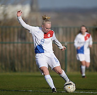 20140209 - TUBIZE , BELGIUM : Dutch Inessa Kaagman pictured during a friendly soccer match between the Under 19 ( U19) women teams of Belgium and The Netherlands , Sunday 9 February 2014 in Tubize . PHOTO DAVID CATRY