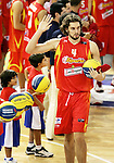 Spain's Pau Gasol during a friendly match between Spain and Argentina at Madrid Arena stadium in Madrid, Sunday August 06 2006. (ALTERPHOTOS/B.Echavarri).