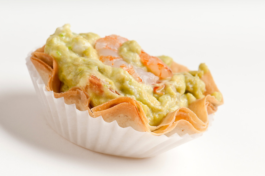 Avocado and Shrimp Volauvent. Volauvent is a tiny round canapé made of puff pastry. The term ' vol au vent ' means ' blown by the wind ' in French.