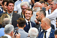 French president Emmanuel Macron during the French Final Top 14 match between Montpellier and Castres at Stade de France on June 2, 2018 in Paris, France. (Photo by Aude Alcover/Icon Sport)