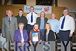 ORDER OF MALTA: Carla O'Doherty Killarney who was the winner of the Lee Strand Kerry Garda Youth Merit Award on Friday night with fa,mily and friends. Front l-r: Kathleen,Carla and Patricia O'Doherty. Back l-r: Michael O'Doherty, Kyle Fitzgerald, Supt Jim O'Connor, Michael Fleming,  Peter O'Doherty and Supt Mike Donovan............. . ............................... ..........