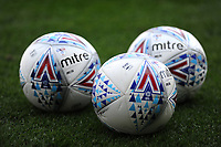 Cardiff City footballs during the pre-match warm-up <br /> <br /> Photographer Ashley Crowden/CameraSport<br /> <br /> The EFL Sky Bet Championship - Cardiff City v Aston Villa - Saturday August 12th 2017 - Cardiff City Stadium - Cardiff<br /> <br /> World Copyright &copy; 2017 CameraSport. All rights reserved. 43 Linden Ave. Countesthorpe. Leicester. England. LE8 5PG - Tel: +44 (0) 116 277 4147 - admin@camerasport.com - www.camerasport.com