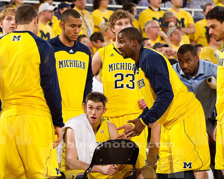 The University of Michigan men's basketball team falls to Purdue, 75-61, on senior night at Crisler Center in Ann Arbor, Mich. on February 25, 2012.