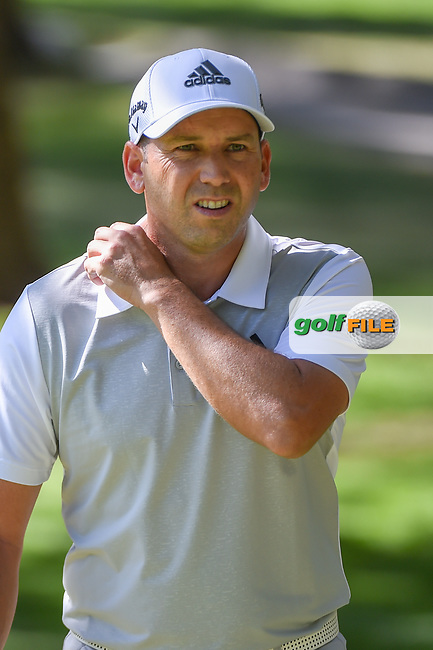 Sergio Garcia (ESP) approaches the green on 2 after chipping on from the trees during round 1 of the World Golf Championships, Mexico, Club De Golf Chapultepec, Mexico City, Mexico. 2/21/2019.<br /> Picture: Golffile | Ken Murray<br /> <br /> <br /> All photo usage must carry mandatory copyright credit (© Golffile | Ken Murray)