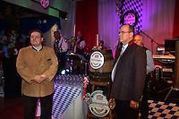 """--- NO TABLOIDS, NO WEB SITE --- Tonio Arcaini, ‡ gauche, de la brasserie Weihenstephan, et le Prince Albert II de Monaco participent ‡ la soirÈe d'ouverture de la 11Ëme Èdition de l'Oktoberfest au CafÈ de Paris le 14 octobre 2016. La SociÈtÈ des Bains de Mer cÈlËbre """"Oktoberfest"""" selon la pure tradition bavaroise, en partenariat avec la brasserie Weihenstephan, biËre munichoise. Les dinners se dÈroulent sous le chapiteau installÈ et†dÈcorÈ pour loccasion du 14 au 23 octobre 2016."""