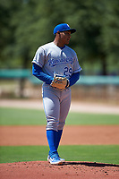 AZL Royals relief pitcher Heribert Garcia (29) during an Arizona League game against the AZL Dodgers Lasorda on July 4, 2019 at Camelback Ranch in Glendale, Arizona. The AZL Royals defeated the AZL Dodgers Lasorda 4-1. (Zachary Lucy/Four Seam Images)