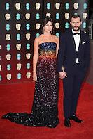 Amelia Warner &amp; Jamie Dornan at the 2017 EE British Academy Film Awards (BAFTA) held at The Royal Albert Hall, London, UK. <br /> 12 February  2017<br /> Picture: Steve Vas/Featureflash/SilverHub 0208 004 5359 sales@silverhubmedia.com