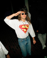 Sep 06, 1989 - Universal City, California, USA - Singer Jon Bon Jovi waves to a group of photographers as he arrives in Universal City, Calif., Wednesday September 6, 1989 for the MTV awards..(Credit Image: © Alan Greth)