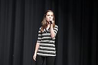 Jaclyn Frazier performing at the Nebraska's Got Talent, Burke High School, Omaha, NE