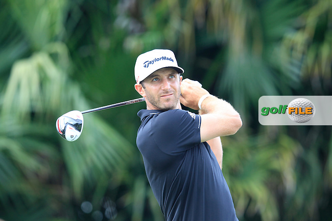 Dustin Johnson (USA) during the 3rd round at the WGC Cadillac Championship, Blue Monster, Trump National Doral, Doral, Florida, USA<br /> Picture: Fran Caffrey / Golffile