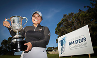 Doey Choi with the New Zealand Amateur Golf Championship Trophy's, Remuera Gold Club, Auckland, New Zealand. Sunday 3rd st November 2019. Photo: Greg Bowker/www.bwmedia.co.nz/NZGolf<br /> COPYRIGHT:© www.bwmedia.co.nz