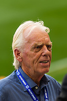 Trinidad and Tobago director of football Leo Beenhakker during a CONCACAF Gold Cup group B match at Red Bull Arena in Harrison, NJ, on July 8, 2013.