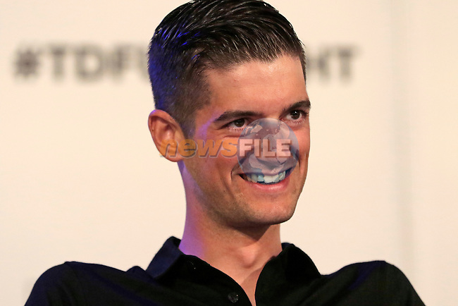 Wouter Poels (NED) Team Sky press conference before the start of the 2015 Tour de France in Utrecht, Netherlands. 3rd July 2015.<br /> Photo: Eoin Clarke www.newsfile.ie