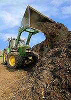 David Sykes, Hall House Farm, Greenfield, Oldham, Lancashire.....Handling green coucil waste for compost.