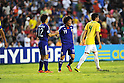 (L-R) Fumiya Hayakawa, Daisuke Takagi (JPN),JULY 3, 2011 - Football :Fumiya Hayakawa and Daisuke Takagi of Japan shake hands as Matheus (R) of Brazil walks off the pitch after the 2011 FIFA U-17 World Cup Mexico Quarterfinal match between Japan 2-3 Brazil at Estadio Corregidora in Queretaro, Mexico. (Photo by AFLO)