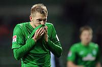 FUSSBALL   1. BUNDESLIGA    SAISON 2012/2013    14. Spieltag   SV Werder Bremen - Bayer 04 Leverkusen                28.11.2012 Aaron Hunt (SV Werder Bremen) ist nach dem Abpfiff enttaeuscht