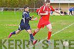FC Balloonagh's Lazar Radelescu and Tralee Dynamos Brian Fitzgerald.