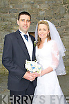 Sinead Dennehy, daughter of Michael & Margaret Dennehy, Bridge St., Ballylongford,and Sean Lynch, son of George & Mary Lynch, Leitrim Middle, Moyvane who were married in St. Mary's Church, Listowel on Friday last. The ceremony was conducted in the Latin Tridentine style by Frs Horgan, Sherry & Bierer. Best man was James Kennelly and the groomsmen were Brendan Lynch & John Mulvihill. Bridesmaids were Mary Dennehy, Tara Dennehy & SarahO'Hanlon. Page boy was Senan Lynch. The reception was held in the Listowel Arms Hotel.