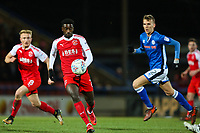 Jordy Hiwula of Fleetwood Town during the Sky Bet League 1 match between Rochdale and Fleetwood Town at Spotland Stadium, Rochdale, England on 20 March 2018. Photo by Thomas Gadd.
