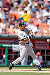 5 September 2005: Damion Easley, infielder for the Florida Marlins, at bat during a game against the Washington Nationals. The Nationals defeated the Marlins 5-2 at RFK Stadium in Washington, DC. Mandatory Photo Credit: Ed Wolfstein.