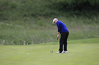 Eanna Griffin (Waterford) on the 5th green during Round 3 of the Connacht Stroke Play Championship at Athlone Golf Club Sunday 11th June 2017.<br /> Photo: Golffile / Thos Caffrey.<br /> <br /> All photo usage must carry mandatory copyright credit     (&copy; Golffile | Thos Caffrey)