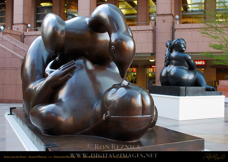 Leda and the Swan Seated Woman Fernando Botero Ebisu Garden Place Tokyo Japan