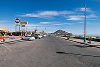 Beachfront main street of San Felipe, Baja California, Mexico,