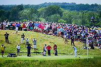 Russell Henley (USA) hits his tee shot on 6 during Sunday's round 4 of the 117th U.S. Open, at Erin Hills, Erin, Wisconsin. 6/18/2017.<br /> Picture: Golffile | Ken Murray<br /> <br /> <br /> All photo usage must carry mandatory copyright credit (&copy; Golffile | Ken Murray)
