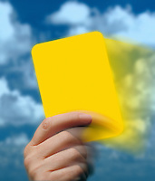 Yellow card warning