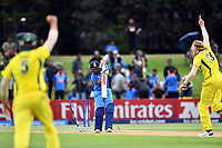 India's captain Prithvi Shaw out bowled to Australia's Will Sutherland during the ICC U-19 Cricket World Cup 2018 Finals between India v Australia, Bay Oval, Tauranga, Saturday 03rd February 2018. Copyright Photo: Raghavan Venugopal / © www.Photosport.nz 2018 © SWpix.com (t/a Photography Hub Ltd)