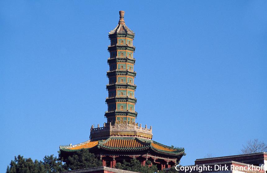 Pagode des  Xumi Fushou Miao-Tempel in Chengde, China, Unesco-Weltkulturerbe