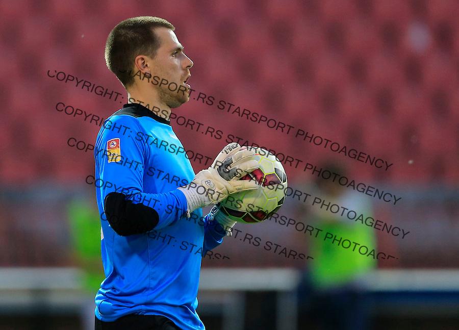 Fudbal Jelen Super League season 2014-2015<br /> Crvena Zvezda v Radnicki (Kragujevac)<br /> Goalkeeper Zarko Trifunovic<br /> Beograd, 13.05.2015.<br /> foto: Srdjan Stevanovic/Starsportphoto&copy;