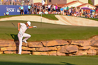 Tommy Fleetwood (ENG) coming off the 18th green during the final round of the DP World Tour Championship, Jumeirah Golf Estates, Dubai, United Arab Emirates. 24/11/2019<br /> Picture: Golffile | Fran Caffrey<br /> <br /> <br /> All photo usage must carry mandatory copyright credit (© Golffile | Fran Caffrey)