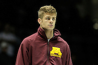 STATE COLLEGE, PA - JANUARY 25: Dylan Ness of the Minnesota Golden Gophers before a match against the Penn State Nittany Lions on January 25, 2015 at Recreation Hall on the campus of Penn State University in State College, Pennsylvania. Minnesota won 17-16. (Photo by Hunter Martin/Getty Images) *** Local Caption *** Dylan Ness