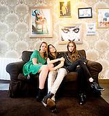HAIM - L-R: sisters Este, Danielle and Alana Haim - Photosession in Paris France - 02 Jun 2013.  Photo credit: Laurent Wallendorff/Dalle/IconicPix (UK ONLY)