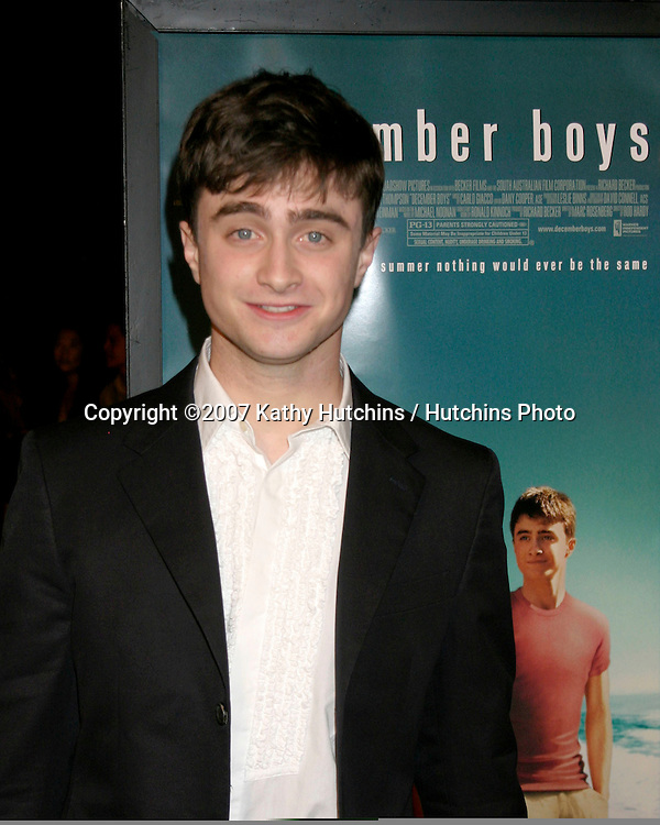 "Daniel Radcliffe.""December Boys"" Premiere.Director's Guild Theater.Los Angeles,  CA.September 6, 2007.©2007 Kathy Hutchins / Hutchins Photo..."
