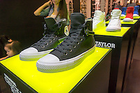 The newly re-sesigned Chuck Taylor All Star II Converse sneaker in the Converse store in Soho in New York on Sunday, August 2, 2015. (© Richard B. Levine)