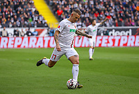 Jonathan Schmid (FC Augsburg) - 14.04.2019: Eintracht Frankfurt vs. FC Augsburg, Commerzbank Arena, 29. Spieltag DISCLAIMER: DFL regulations prohibit any use of photographs as image sequences and/or quasi-video.