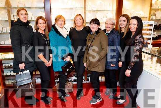 Pictured at the Billy Nolan Jewellers, Tralee, Customer Evening on Friday night last were l-r: Edel Broderick, Trish Breen, Kay Lyons, Louise Nolan, Tonya O'Connor, Sheila Sayers, Molly Breathnach and Sonya O'Brien.