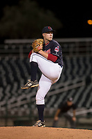 AZL Indians 1 relief pitcher Shane McCarthy (56) delivers a pitch during an Arizona League game against the AZL White Sox at Goodyear Ballpark on June 20, 2018 in Goodyear, Arizona. AZL Indians 1 defeated AZL White Sox 8-7. (Zachary Lucy/Four Seam Images)