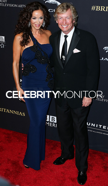 BEVERLY HILLS, CA, USA - OCTOBER 30: Sofia Milos, Nigel Lythgoe arrive at the 2014 BAFTA Los Angeles Jaguar Britannia Awards Presented By BBC America And United Airlines held at The Beverly Hilton Hotel on October 30, 2014 in Beverly Hills, California, United States. (Photo by Xavier Collin/Celebrity Monitor)